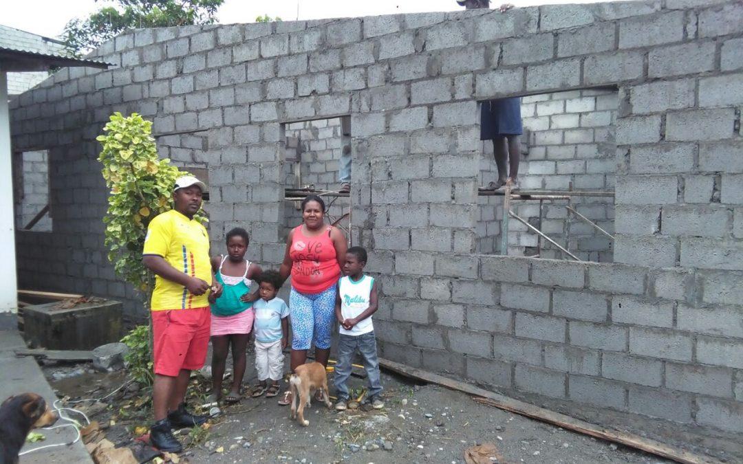Construcción de una vivienda digna para familia en situación de riesgo