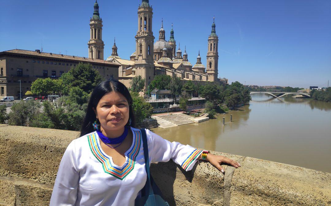 Patricia Gualinga, lideresa de Mujeres Amazónicas Defensoras de la Selva en Sarayaku, visitó Zaragoza