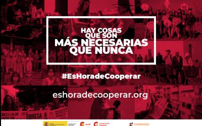 Campaña #EsHoradeCooperar de la CONGDE