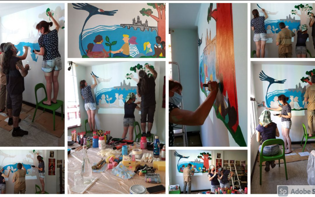 Taller de muralismo en la sede de Huauquipura