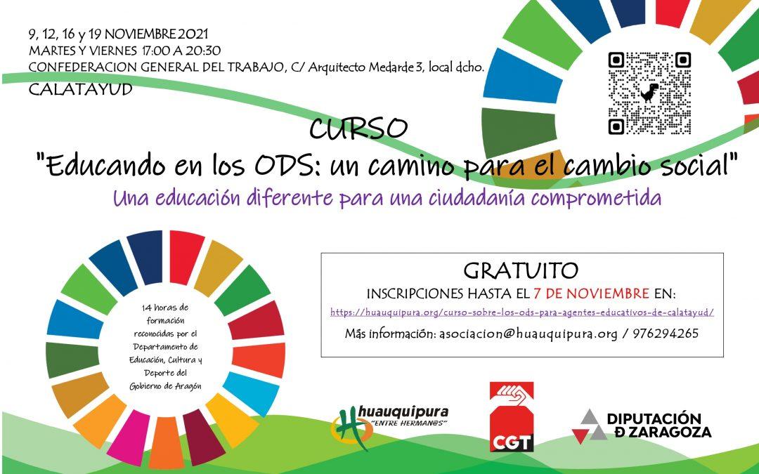 Curso sobre los ODS para agentes educativos de Calatayud
